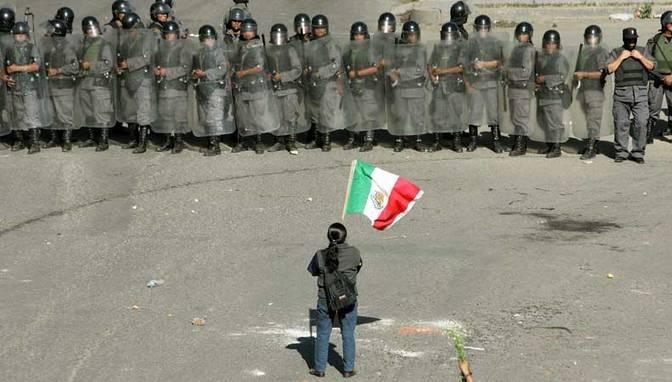 DESPLIEGUE MILITAR Y POLICIAL  CONTRA OAXACA